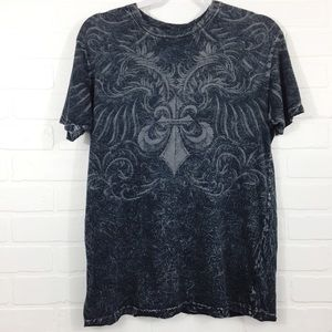 Men's Affliction Live Fast Short Sleeve Tee Small